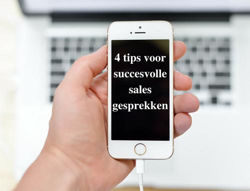 4 tips voor succesvolle sales gesprekken