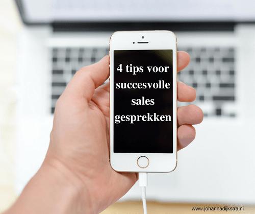 4 tips voor succesvolle sales gesprekken.